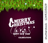 merry christmas 2019 background | Shutterstock .eps vector #1249235029