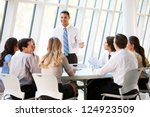 business people having board... | Shutterstock . vector #124923509