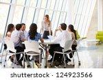 business people having board... | Shutterstock . vector #124923566