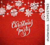 merry christmas party poster... | Shutterstock .eps vector #1249237963