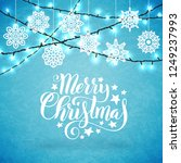 merry christmas poster with... | Shutterstock .eps vector #1249237993