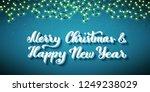 russian text merry christmas.... | Shutterstock .eps vector #1249238029