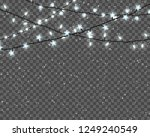 christmas lights isolated on... | Shutterstock .eps vector #1249240549