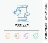 bullhorn  marketing  mobile ... | Shutterstock .eps vector #1249243003