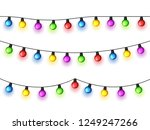 christmas glowing lights on... | Shutterstock .eps vector #1249247266