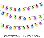 christmas glowing lights on...   Shutterstock .eps vector #1249247269