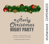 merry christmas night party... | Shutterstock .eps vector #1249248223