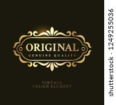 gold vintage retro badge on the ... | Shutterstock . vector #1249255036