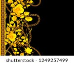 border seamless pattern with... | Shutterstock .eps vector #1249257499