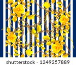 stripped seamless pattern with... | Shutterstock .eps vector #1249257889