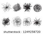 tangled shapes on white. chaos... | Shutterstock .eps vector #1249258720