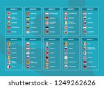 european football tournament... | Shutterstock .eps vector #1249262626