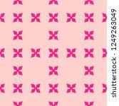 cute pink vector floral texture....   Shutterstock .eps vector #1249263049