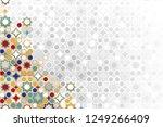 seamless islamic ornamental... | Shutterstock .eps vector #1249266409