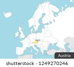 europe map  austria  captial... | Shutterstock .eps vector #1249270246