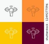 dumbbell  gain  lifting  power  ... | Shutterstock .eps vector #1249277596