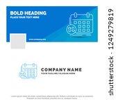 blue business logo template for ... | Shutterstock .eps vector #1249279819