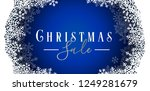 snowflakes frame holiday...   Shutterstock .eps vector #1249281679