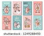 set of cute hand drawn...   Shutterstock .eps vector #1249288450