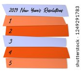 new year resolutions sticky... | Shutterstock .eps vector #1249291783