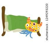 scary big eyed monster crawled... | Shutterstock .eps vector #1249293220