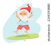 santa claus jumping on... | Shutterstock .eps vector #1249293880