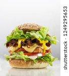 a cheese free vegetarian burger ...