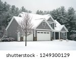 Winter House With Woods In Snow ...
