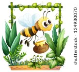 illustration of a bee in the... | Shutterstock .eps vector #124930070