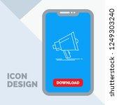 bullhorn  digital  marketing ... | Shutterstock .eps vector #1249303240