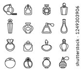 perfume bottle icon set with...   Shutterstock .eps vector #1249303906