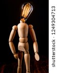 wooden articulated artist doll... | Shutterstock . vector #1249304713