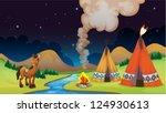 illustration of an overnight... | Shutterstock .eps vector #124930613