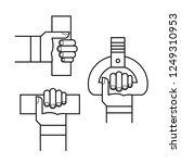 proper hand position in public... | Shutterstock .eps vector #1249310953