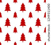 seamless red christmas tree on...   Shutterstock .eps vector #1249311400