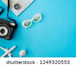 top view travel concept with... | Shutterstock . vector #1249320553