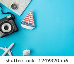 top view travel concept with... | Shutterstock . vector #1249320556