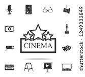 cinema sign icon. set of cinema ... | Shutterstock . vector #1249333849