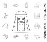 autarch of the arab sheik icon. ... | Shutterstock . vector #1249337893