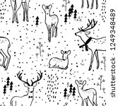 adorable seamless pattern with...   Shutterstock .eps vector #1249348489