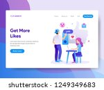 landing page template of get... | Shutterstock .eps vector #1249349683