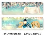 abstract holiday christmas... | Shutterstock .eps vector #1249358983