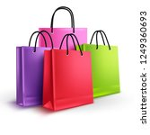 shopping bags group vector... | Shutterstock .eps vector #1249360693