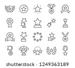 set of star icons  such as... | Shutterstock .eps vector #1249363189