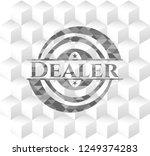 dealer grey emblem with... | Shutterstock .eps vector #1249374283