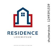 residence logo template design...   Shutterstock .eps vector #1249391539
