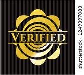 verified gold shiny emblem | Shutterstock .eps vector #1249397083