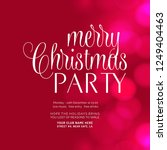 merry christmas party glowing... | Shutterstock .eps vector #1249404463