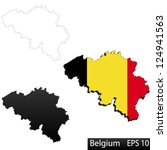maps of belgium  3 dimensional... | Shutterstock .eps vector #124941563