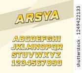 arsya font is suitable for...   Shutterstock .eps vector #1249422133